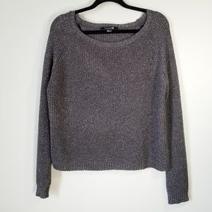 Charcoal Gray Shimmery Sweater